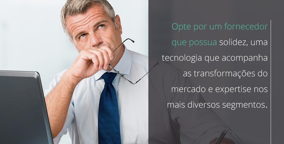 Para trocar de ERP, opte por um profissional que possua solidez.