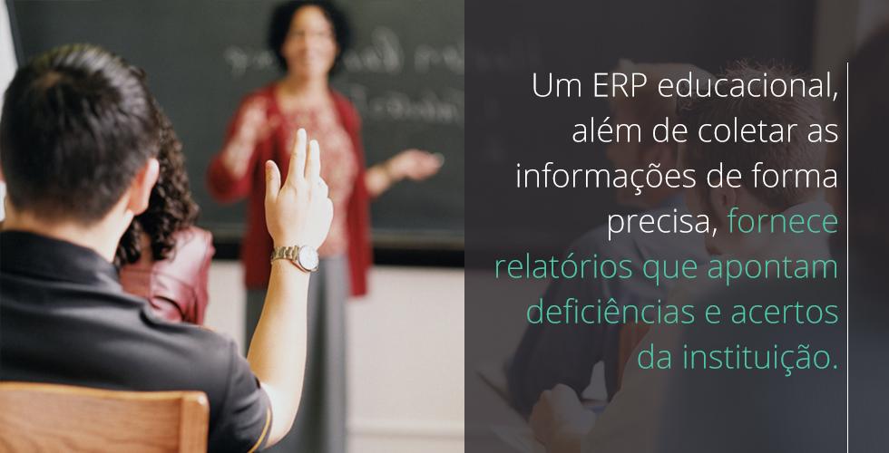 ERP educacional fornece relatórios que apontam deficiências e acertos da instituição